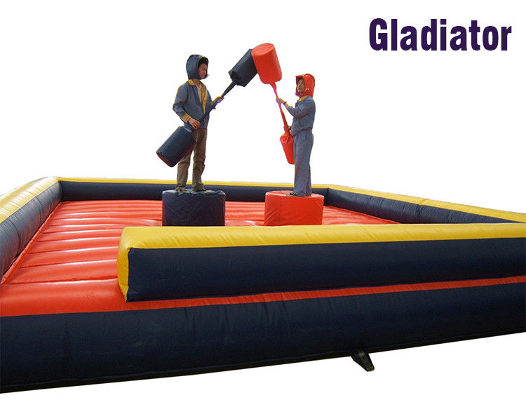 Game Interaktif Komersial Tiup Gladiator Duel Inflatable CE pemasok